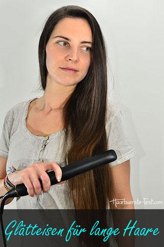 glätteisen für lange Haare