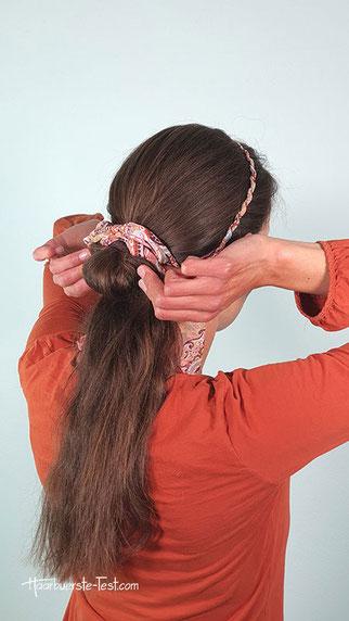 haarband zopf machen, haarband zopf anleitung