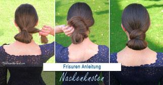Nackenknoten Anleitung: elegante Frisur einfach gemacht
