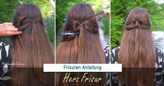 Herz Frisur, Herz Zopf, Valentinstag Frisur