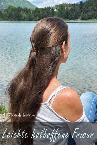 Leichte halboffene Frisur