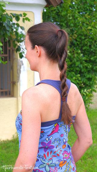 Gedrehter Zopf, Kordelzopf, schnelle Frisur für lange Haare