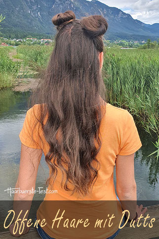 Offene Haare mit Dutts, coole dutts