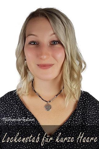 Lockenstab für kurze Haare