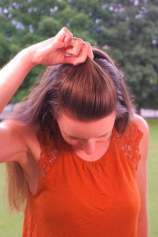 halboffene Haare