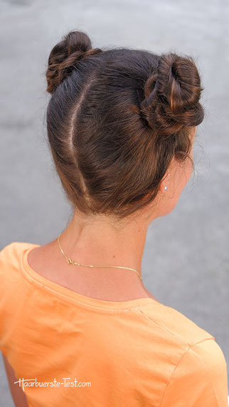 lässiger dutt lange haare