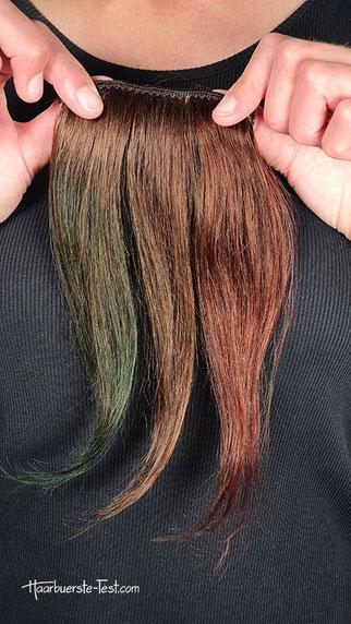 braune haare färben mit krepppapier, haare färben mit krepppapier