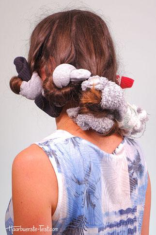 socken locken mit trockenen haaren