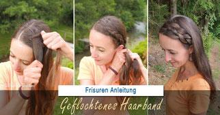 Geflochtenes Haarband: Ein Haarband mit eigenen Haaren selber machen