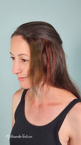 haare färben mit krepppapier bei dunklen haaren, braune haare färben mit krepppapier