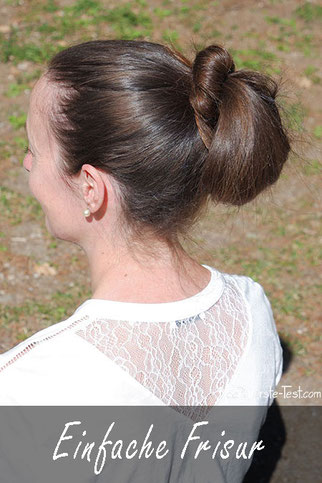 1 Minuten Frisur, Einfache Frisur Anleitung