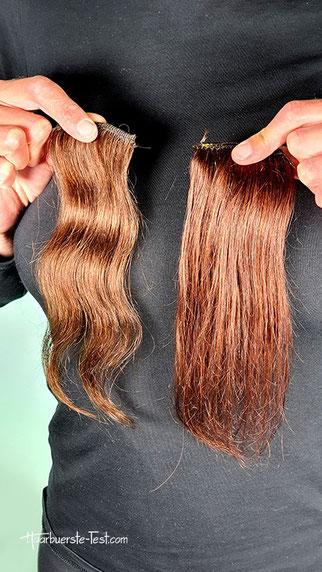 Braune Haare mit Henna färben, henna auf braunem haar, henna auf dunkelbraunem haar