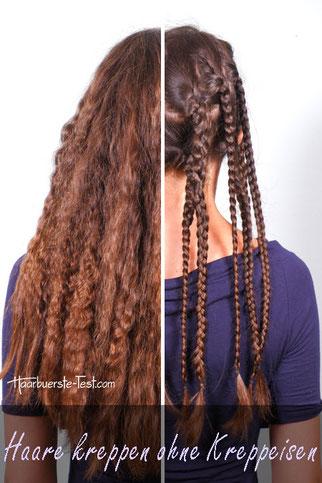 Haare kreppen ohne Kreppeisen
