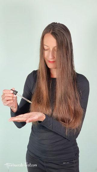 handtuchtrocken, arganöl haare