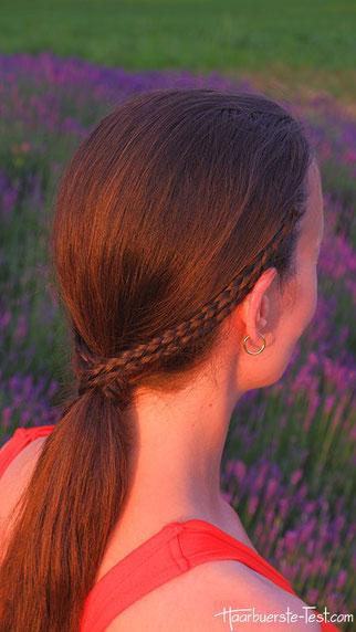 tiefer Pferdeschwanz, Haar Haarband, Flechtzopf Pferdeschwanz