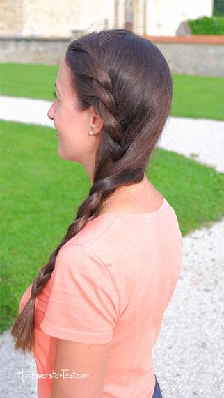 seitenzopf geflochten lange haare