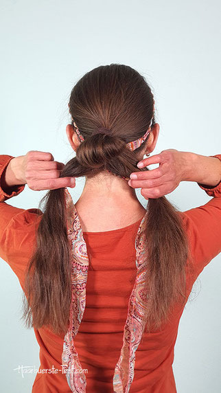 haarband dutt machen