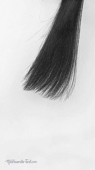 Haarsträhne vor dem Effilieren