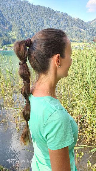 bubble ponytail, lässiger zopf