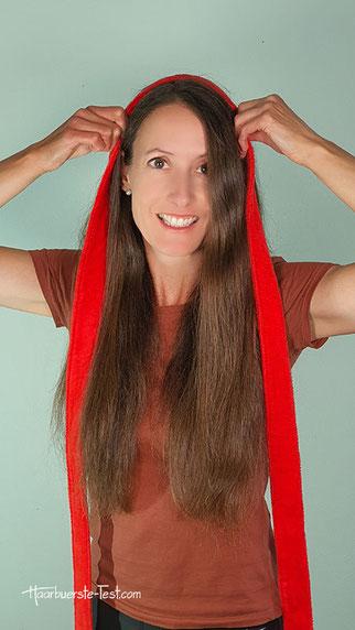 bademantel haare locken