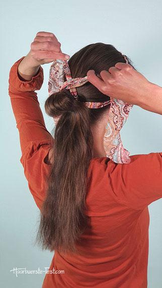 zopf mit haarband, zopf mit haarband machen