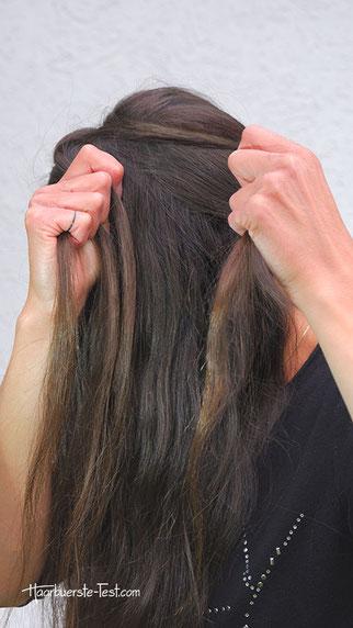 haarband mit haaren machen