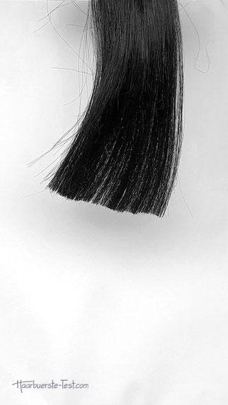 Haarsträhne vor dem Ausdünnen