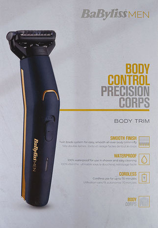 Babyliss Men Body Trimmer, Babyliss Body trimmer
