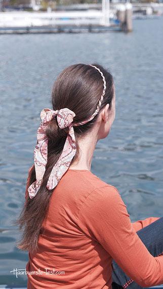 haarband zopf, zopf mit haarband, haarband frisur