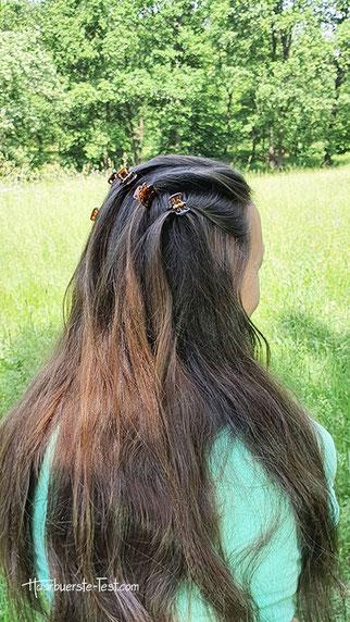 einfache frisur offene haare, lange haare frisur einfach