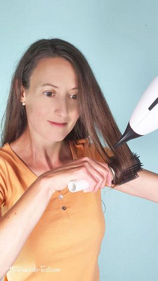 tangle teezer blow styling test, Rundbürste Kunststoff