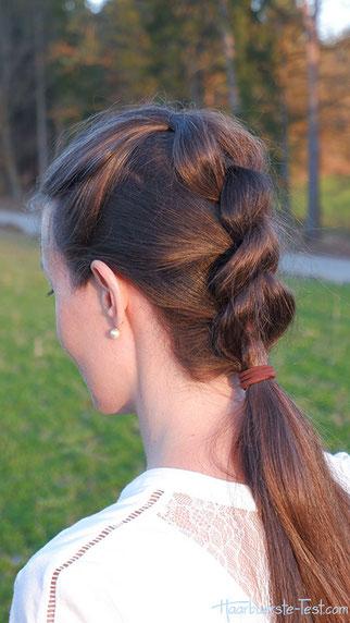 Pull Through Braid, einfache Frisur