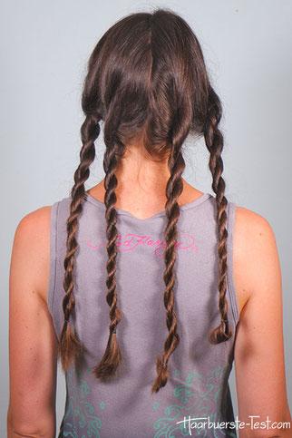 Locken ohne Hitze mit Haargummi