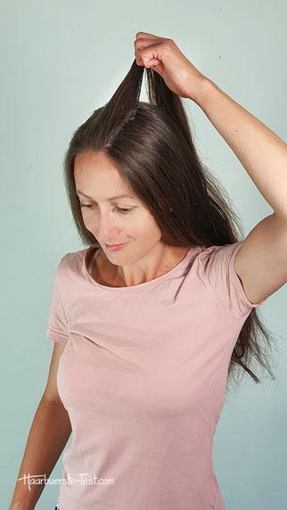 Halboffene Frisur, halboffene frisur machen