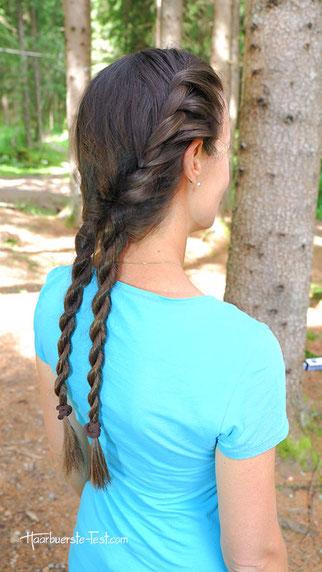 gedrehte zopf frisur, zopf frisuren lange haare