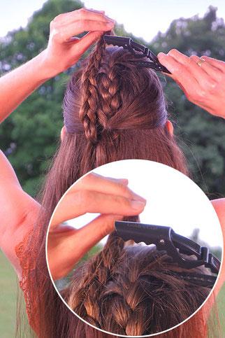 flechtfrisuren halboffene haare