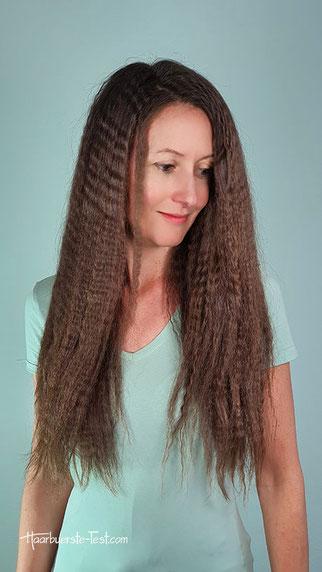 kreppeisen frisur, gekreppte haare