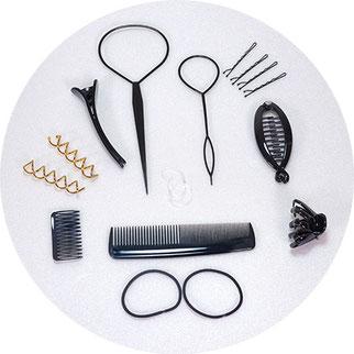 Stylinghelfer für Frisuren im Set