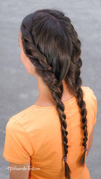 zopffrisur, zopf lange haare