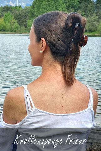 frisuren mit krallenspange