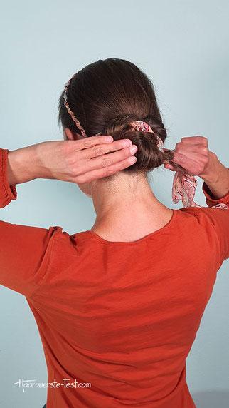haarband dutt anleitung, dutt mit haarband anleitung