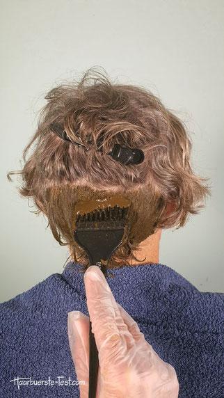 sante maronenbraun graue haare