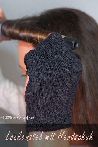 lockenstab mit handschuh