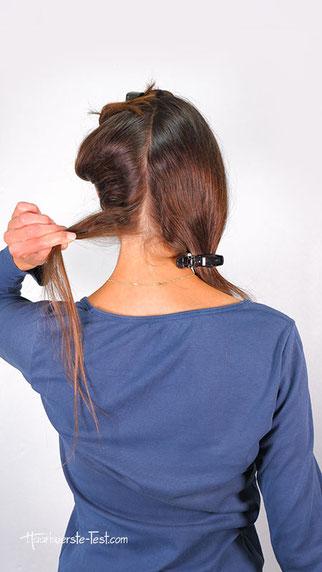 Haarsträhne abtrennen