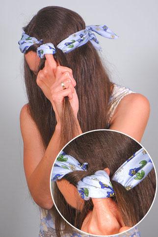 locken machen über nacht mit Haarband