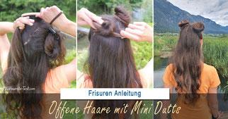 Offene Haare mit Dutt: Zwei coole Dutts am Oberkopf!