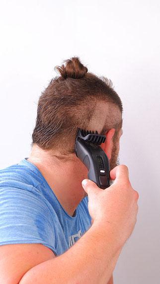 haare schneiden mit haarschneider