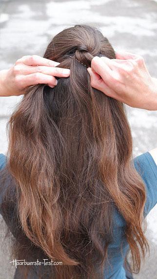 einfache frisur, einfache frisur lange haare