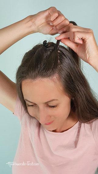 Haarklammer frisur, Halboffene Frisur, haarklammer frisur anleitung
