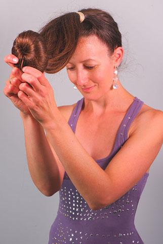 Hoher Dutt lange Haare